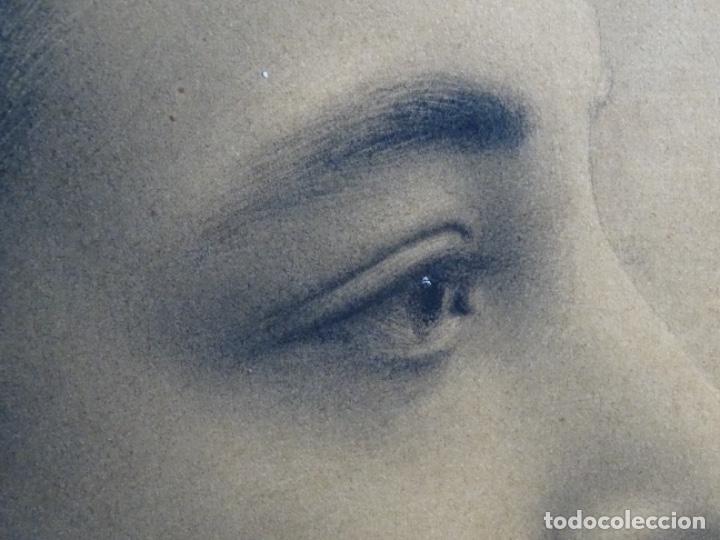 Arte: EXCELENTE DIBUJO MODERNISTA CON TOQUES DE ÓLEO. FIRMA ILEGIBLE. MAESTRO. - Foto 8 - 246168350