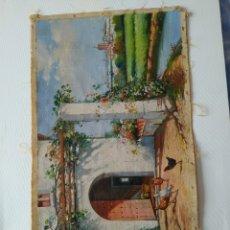 Arte: LIENZO ORIGINAL AL ÓLEO DE J.BELLIDO - CASA DE CAMPO EN SEVILLA. FIRMA. Lote 246220490