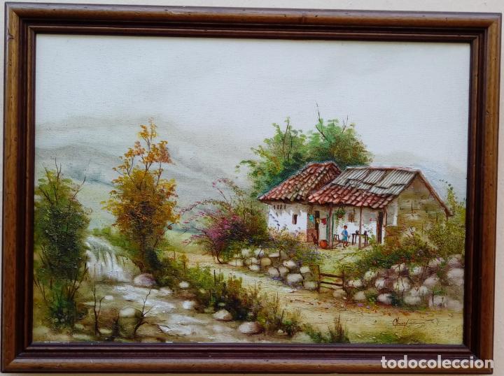 ÓLEO S/LIENZO DE JOSEFA PINTO -CHEMY-. DIM.- 78.25X58,25 CMS. (Arte - Pintura - Pintura al Óleo Contemporánea )