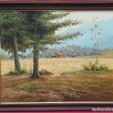 Arte: ÓLEO SOBRE LIENZO OBACH CARNÉ - OLOT - GIRONA. Lote 246463980