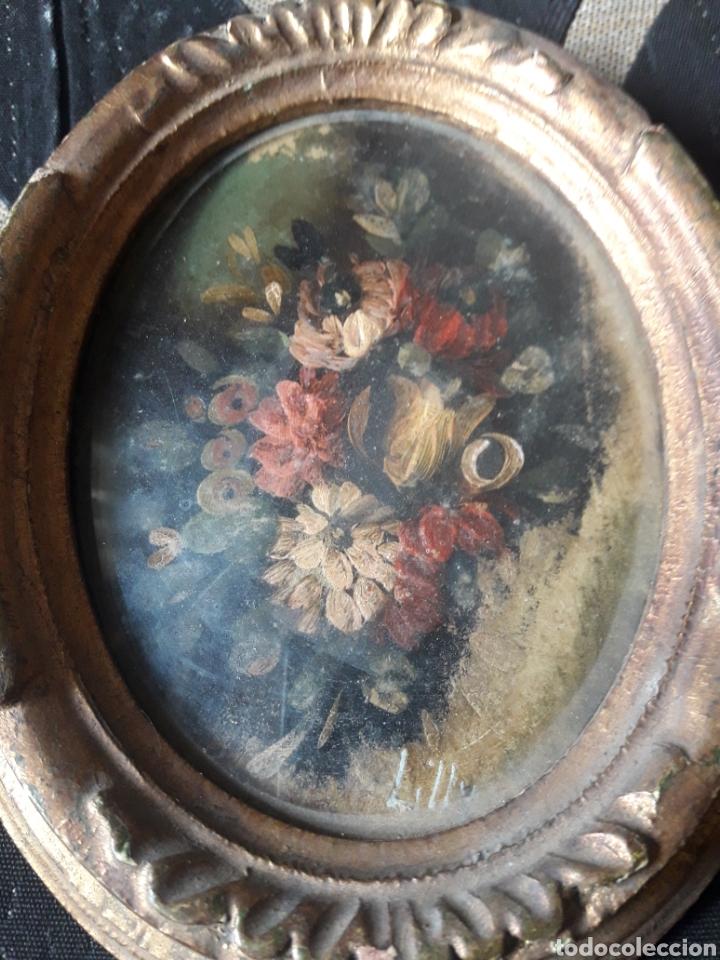 Arte: Antigua miniatura, óleo sobre cobre - Foto 2 - 246466225