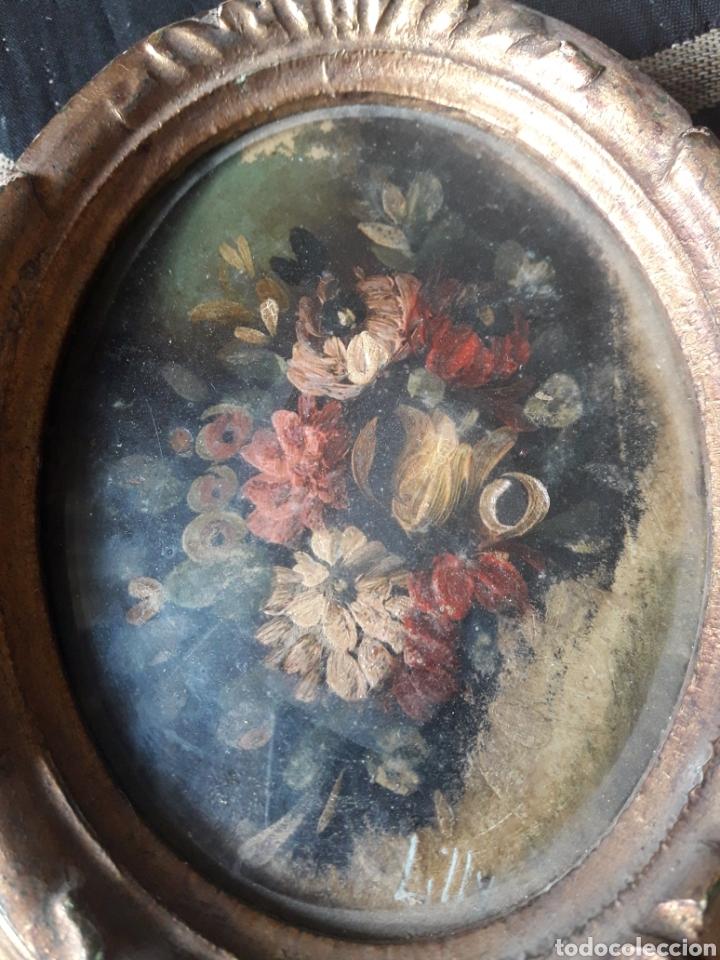 Arte: Antigua miniatura, óleo sobre cobre - Foto 4 - 246466225