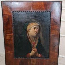 Arte: PRECIOSO OLEO LIENZO ENMARCADO DE VIRGEN DOLOROSA DE ESCUELA ESPAÑOLA,S. XVII-XVIII. Lote 246592065