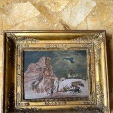 Arte: JOSÉ MORENO CARBONERO - FECHADO EN 1927 - ÓLEO/ TABLA - BOCETO PARA LA ILUSTRACIÓN DEL QUIJOTE. Lote 246657190