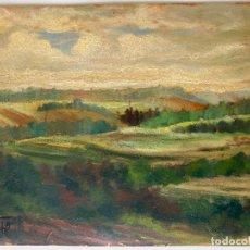Arte: LANDSCAPE FRANCE , PARIS , OIL , SIGNED FELIX , OLEO SOBRE CARTON FIRMADO. Lote 246661905