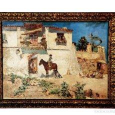 Arte: ESPECTACULAR TABLA DE LA OBRA EL VASO DE AGUA DE JOSÉ MORENO CARBONERO. MÁLAGA 1860 - MADRID, 1942. Lote 246694595