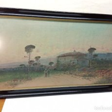 Arte: S.XIX INTERESANTE PINTURA AL OLEO SOBRE LIENZO - PAISAJE RURAL - FIRMADA BLOM. Lote 246951030