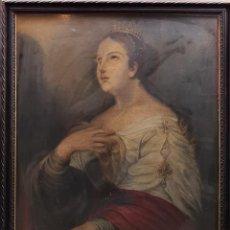 Arte: SANTA CATALINA MÁRTIR. SIN FIRMAR. ÓLEO SOBRE LIENZO. ESPAÑA. SIGLO XVIII-XIX.. Lote 247047140