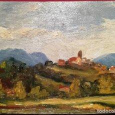 Arte: PUEBLO POR ENRIC GALWEY (1864-1931). Lote 247186130
