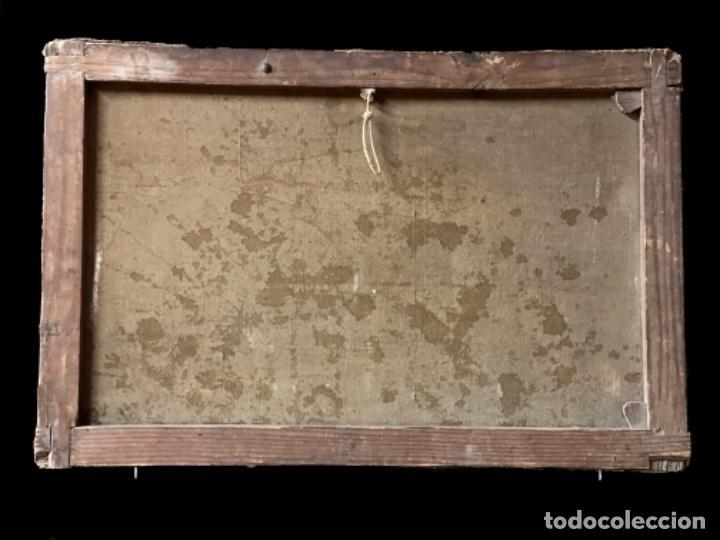 Arte: Antiguo óleo sobre lienzo, bodegón, escena casera. S. XIX. - Foto 2 - 247441040