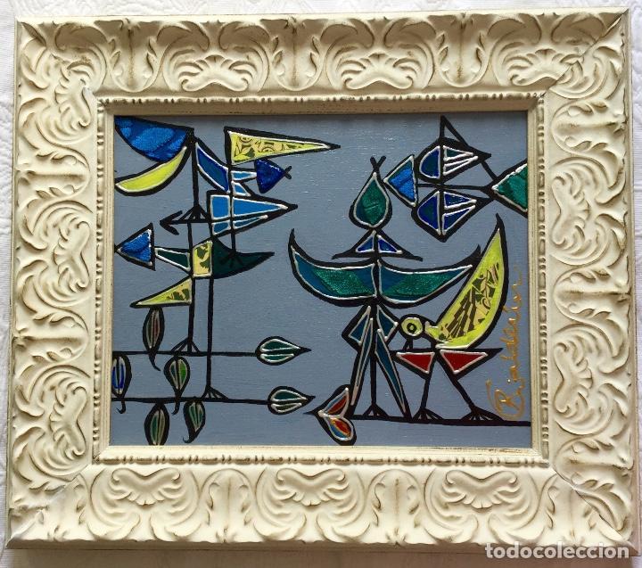 """Arte: """"CON LA MIRADA DE DOMÍNGUEZ"""" obra de la pintora canaria Ruth Calderín (LPGC 1977) - Foto 4 - 227557470"""