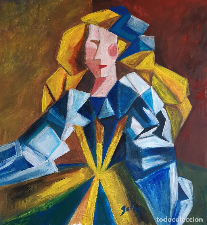 MENINA CUBISTA (Arte - Pintura - Pintura al Óleo Contemporánea )