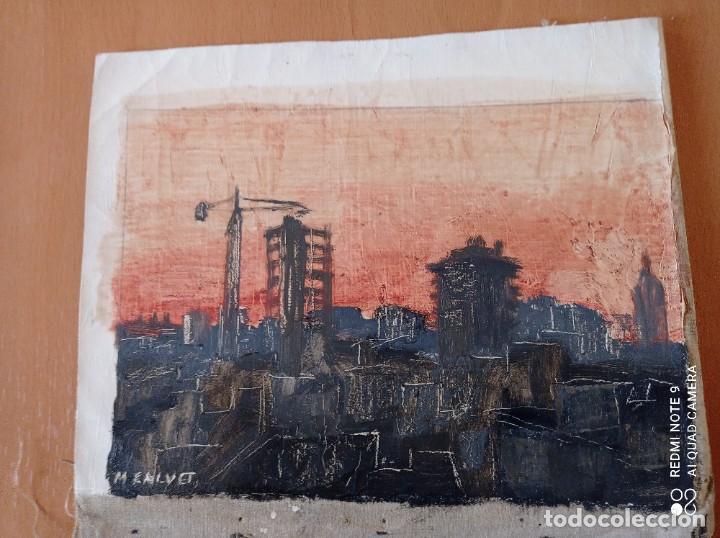 OLEO SOBRE LIENZO FIRMADO POR M.CALVET (Arte - Pintura - Pintura al Óleo Contemporánea )