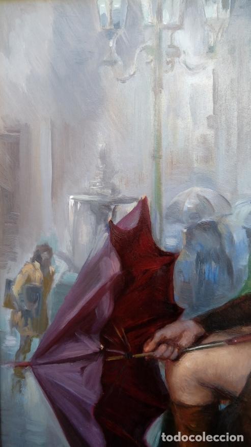 Arte: ÓLEO DE FRANCISCO RIBERA GÓMEZ. FIRMADO, FECHADO MCMLXXIII Y TITULADO -CHIRIMIRI-. DIM.-78.5X69 CMS. - Foto 3 - 247587665