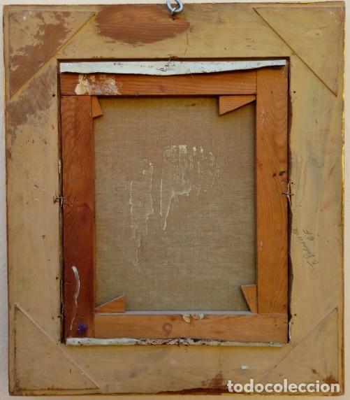 Arte: ÓLEO S/LIENZO DE ROSENDO GONZÁLEZ CARBONELL -NIÑA COLOCANDO UNA FLOR-. DIM.-58X49,5 CMS. - Foto 8 - 43756645