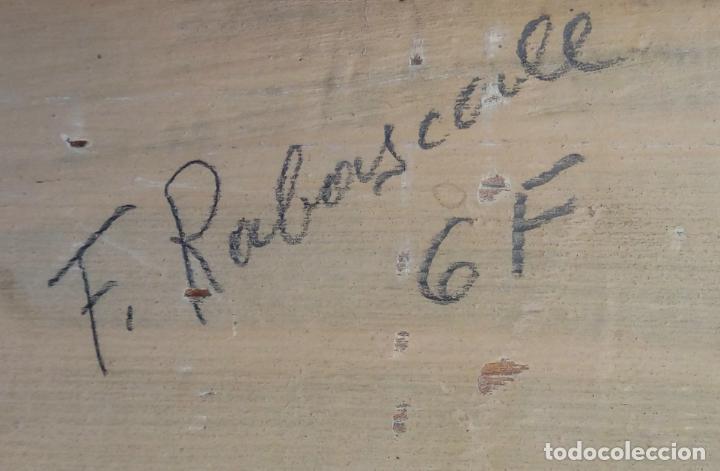 Arte: ÓLEO S/LIENZO DE ROSENDO GONZÁLEZ CARBONELL -NIÑA COLOCANDO UNA FLOR-. DIM.-58X49,5 CMS. - Foto 10 - 43756645
