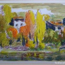 Arte: TÉCNICA MIXTA FIRMADO E. PITUS. GRAN COLORIDO. BIEN ENMARCADO.. Lote 247614635