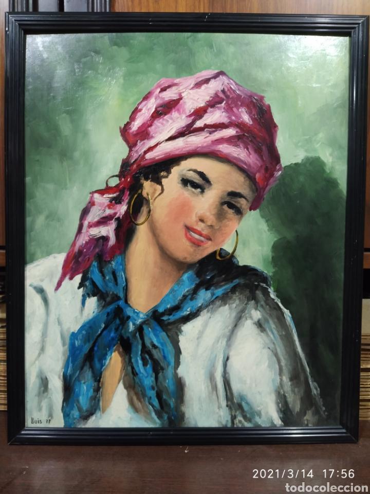 PINTURA ACRÍLICA DE JOVEN CON PAÑUELO (Arte - Pintura - Pintura al Óleo Contemporánea )
