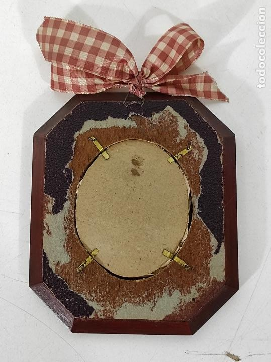 Arte: Preciosa Miniatura - Óleo sobre Marfil - Antiguo Espejo - S.XIX - Foto 8 - 247911805