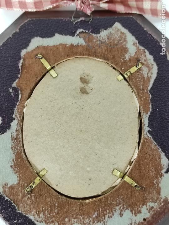 Arte: Preciosa Miniatura - Óleo sobre Marfil - Antiguo Espejo - S.XIX - Foto 9 - 247911805