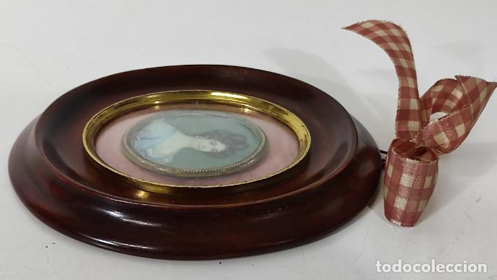 Arte: Miniatura - Óleo sobre Marfil - Retrato Señora - S.XIX - Foto 6 - 247918220