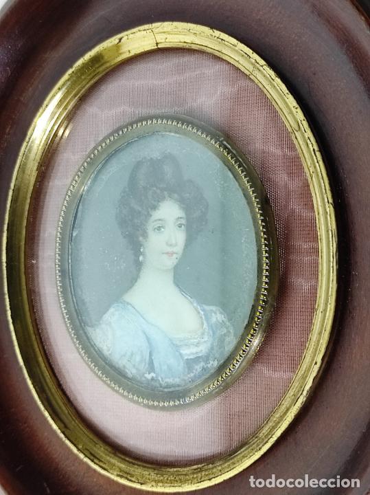 Arte: Miniatura - Óleo sobre Marfil - Retrato Señora - S.XIX - Foto 7 - 247918220