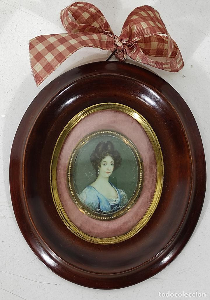 Arte: Miniatura - Óleo sobre Marfil - Retrato Señora - S.XIX - Foto 8 - 247918220
