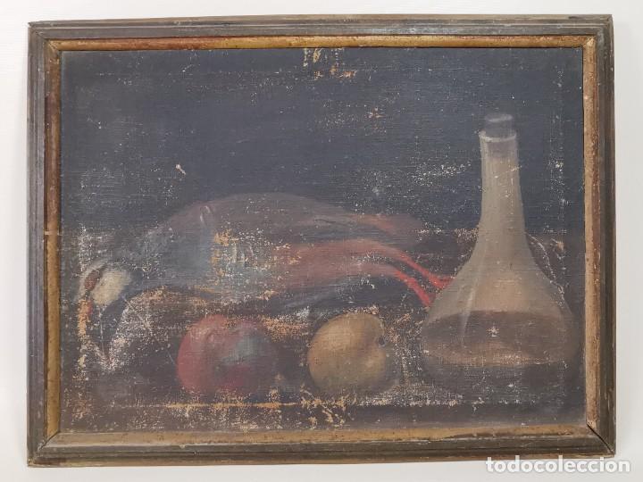 Arte: OLEO NATURALEZA MUERTA-BODEGON-CAZA-PESCA -SIGLO XVIII-CATALUÑA-- --REF-MO - Foto 3 - 248017635