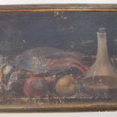 Arte: OLEO NATURALEZA MUERTA-BODEGON-CAZA-PESCA -SIGLO XVIII-CATALUÑA-- --REF-MO. Lote 248017635