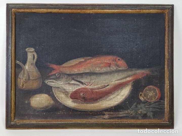 Arte: OLEO NATURALEZA MUERTA-BODEGON-CAZA-PESCA -SIGLO XVIII-CATALUÑA-- --REF-MO - Foto 3 - 248018340