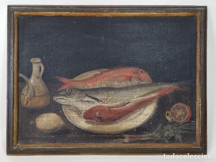Arte: OLEO NATURALEZA MUERTA-BODEGON-CAZA-PESCA -SIGLO XVIII-CATALUÑA-- --REF-MO - Foto 4 - 248018340