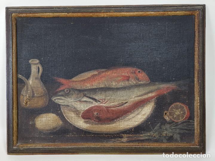 Arte: OLEO NATURALEZA MUERTA-BODEGON-CAZA-PESCA -SIGLO XVIII-CATALUÑA-- --REF-MO - Foto 19 - 248018340