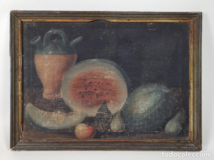 OLEO NATURALEZA MUERTA-BODEGON-CAZA-PESCA -SIGLO XVIII-CATALUÑA-- --REF-MO (Arte - Pintura - Pintura al Óleo Antigua siglo XVIII)