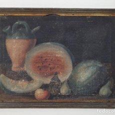 Arte: OLEO NATURALEZA MUERTA-BODEGON-CAZA-PESCA -SIGLO XVIII-CATALUÑA-- --REF-MO. Lote 248018720