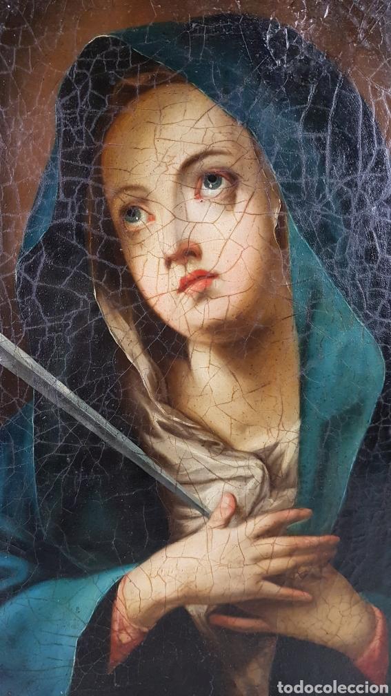 Arte: Cuadro / Oleo sobre lienzo de Virgen / Dolorosa. Escuela andaluza , Sevilla s. XVIII. - Foto 2 - 248044895