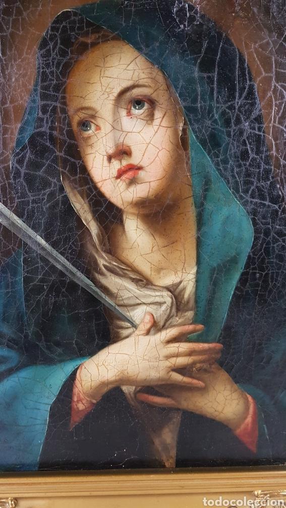 Arte: Cuadro / Oleo sobre lienzo de Virgen / Dolorosa. Escuela andaluza , Sevilla s. XVIII. - Foto 4 - 248044895