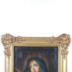 Arte: CUADRO / OLEO SOBRE LIENZO DE VIRGEN / DOLOROSA. ESCUELA ANDALUZA , SEVILLA S. XVIII.. Lote 248044895