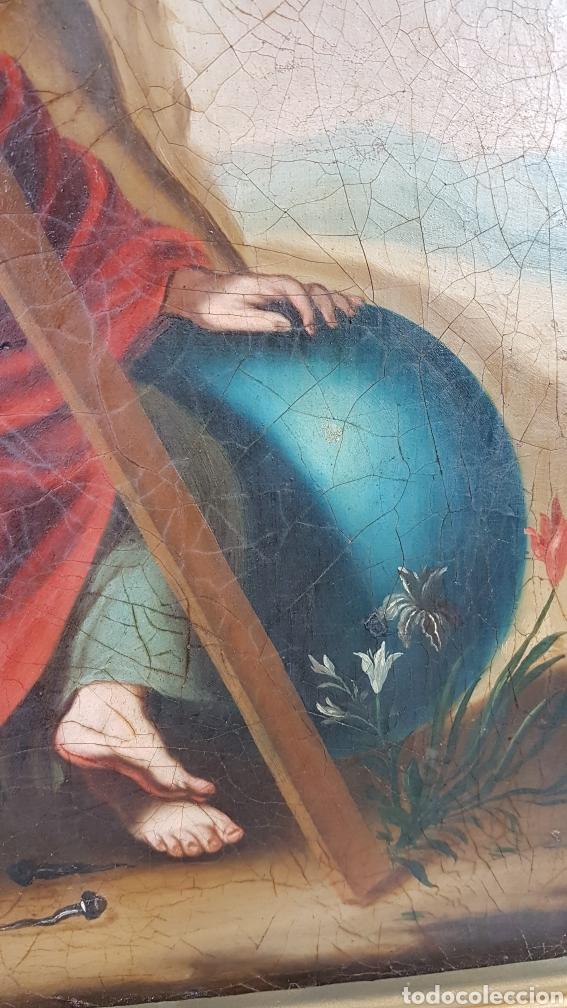 Arte: Cuadro / Oleo sobre lienzo de Niño de la Pasión . Escuela andaluza , Sevilla s. XVIII. - Foto 3 - 248050840