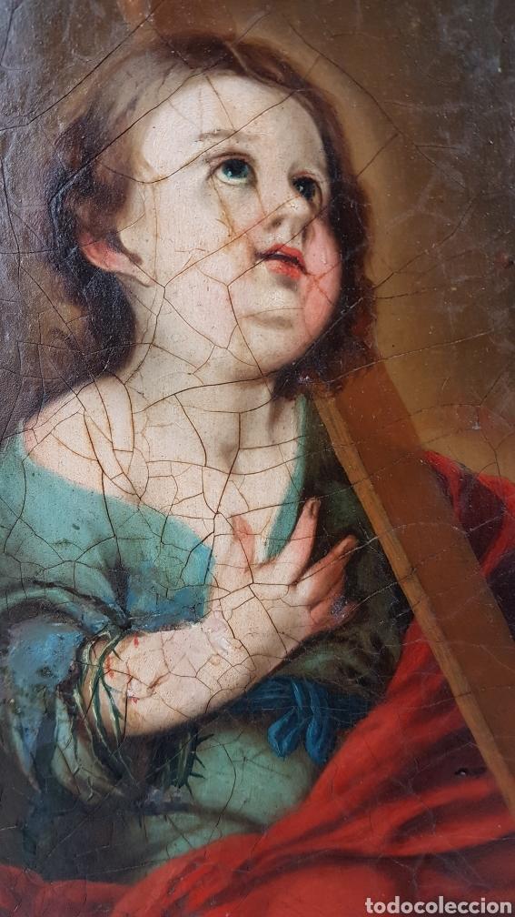 Arte: Cuadro / Oleo sobre lienzo de Niño de la Pasión . Escuela andaluza , Sevilla s. XVIII. - Foto 4 - 248050840