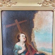 Arte: CUADRO / OLEO SOBRE LIENZO DE NIÑO DE LA PASIÓN . ESCUELA ANDALUZA , SEVILLA S. XVIII.. Lote 248050840