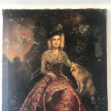 Arte: GRAN OLEO SOBRE LIENZO RETRATO DE BELLA DAMA. ESCUELA FRANCESA PRINCIPIOS DEL S.XVIII.. Lote 248130540