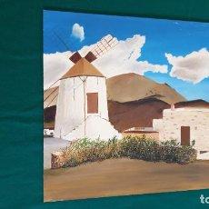 Arte: ÓLEO SOBRE TABLILLA CUADRO MOLINO. Lote 248362895