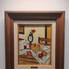 Arte: OLEO SOBRE TABLA, FIRMADO GIRONÉS. BODEGÓN. 37X42CM ENMARCADO. Lote 248803540