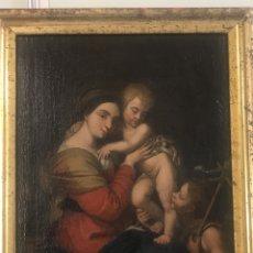 Arte: EXCEPCIONAL OBRA SIGLO XVII. VIRGEN, NIÑO Y SAN JUANITO. Lote 249036435