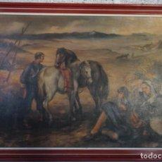 Arte: CUADRO DE FRANCISCO RIBERA - REPRO EN SERIGRAFÍA BARNIZADA S/TABLA ENMARCADA 49,5 X 79,5. Lote 249071315
