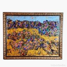 Arte: ARTE ABSTRACTO. GRAN OBRA DE ANTONIO FERRI. ACRÍLICO SOBRE PAPEL. ENMARCADO CON CRISTAL. CIRCA 1980.. Lote 249151630
