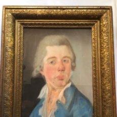 Arte: ANTIGUA PINTURA DEL SIGLO XVIII , RETRATO J.WEINER FIRMADO, BAJO VIDRIO EN MARCO DE EPOCA. Lote 249379765