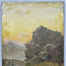 Arte: ESCENA DE EMBOSCADA DE RIFEÑOS A MILITARES ESPAÑOLES. OLEO S/ LIENZO. MANUEL TORRES MARTINEZ (1901-1. Lote 249395300