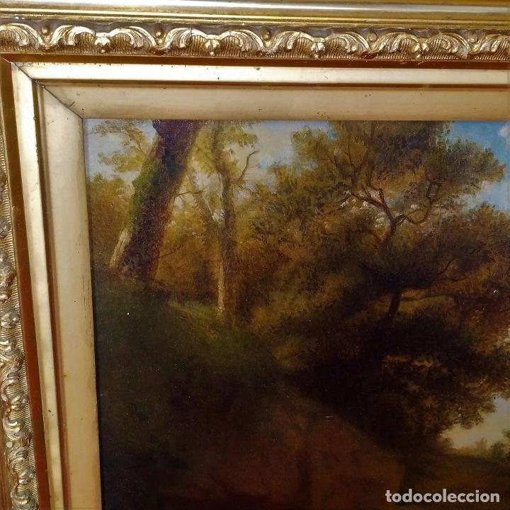 Arte: PASTOR CON REBAÑO DE OVEJAS. ANÓNIMO. ÓLEO SOBRE LIENZO. HOLANDA. SIGLO XVIII - Foto 8 - 249450125