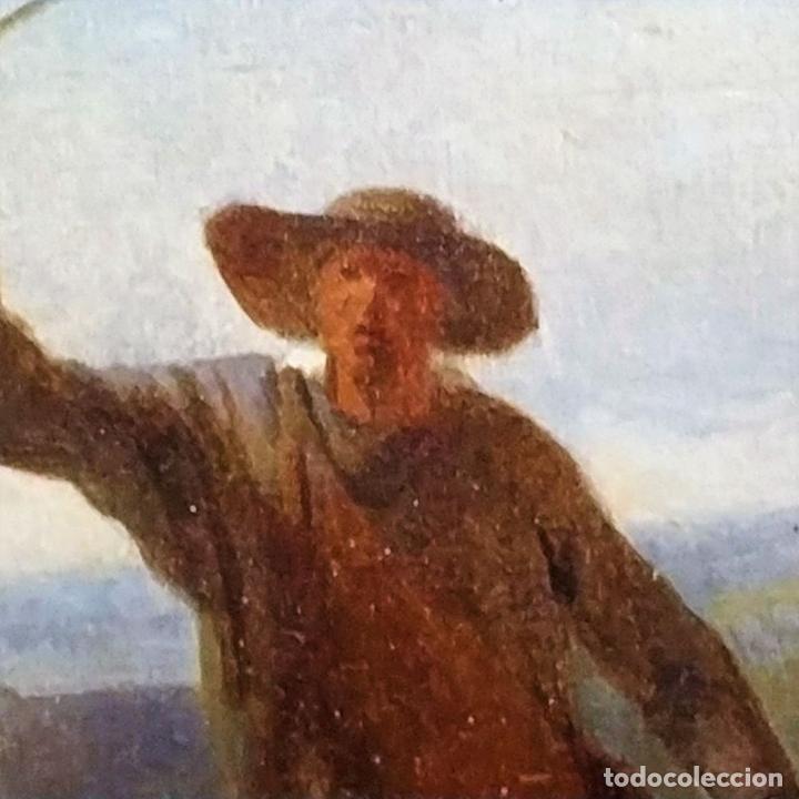 Arte: PASTOR CON REBAÑO DE OVEJAS. ANÓNIMO. ÓLEO SOBRE LIENZO. HOLANDA. SIGLO XVIII - Foto 13 - 249450125